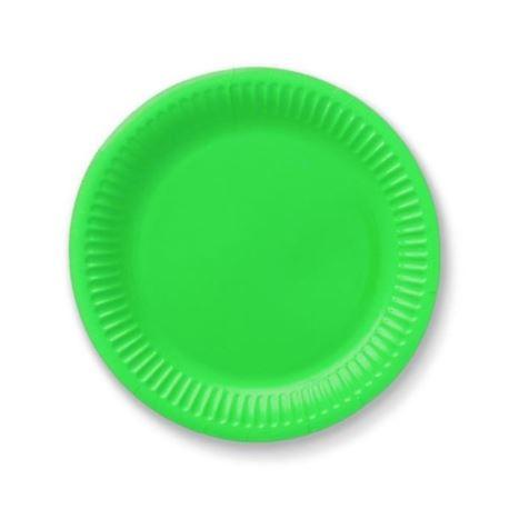Talerzyki papierowe 18 cm, zielone, 6 szt.
