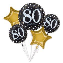 "Bukiet balonow ""Sparkling Birthday 80"""