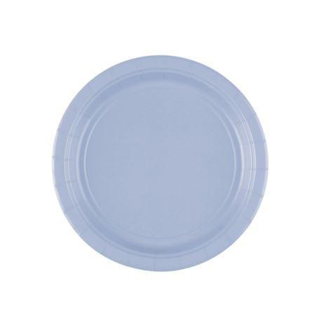 Talerz, papier, pastelowy niebieski, 17,7 cm 8szt.