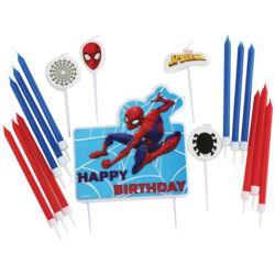 Zestaw 17 swieczek urodzinowych Spider-Man