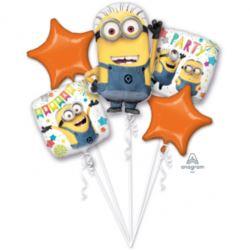 """Bukiet balonow """" Minionki"""", 5 balonow foliowych,"""