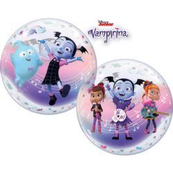 """balony, balony na hel, dekoracje balonowe, balony Łódź, balony z nadrukiem, Balon foliowy 22"""" QL Bubble Poj.""""Vampirina"""" 1 szt."""
