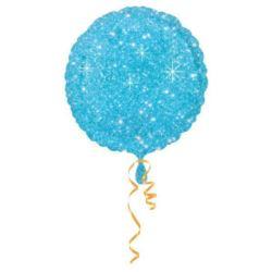 balony, balony na hel, dekoracje balonowe, balony Łódź, balony z nadrukiem, Balon foliowy okrągły niebieski, gwiazdki 43 cm