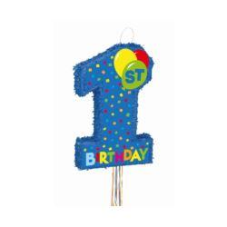 balony, balony na hel, dekoracje balonowe, balony Łódź, balony z nadrukiem, Piniata 1st Birthday Boy, 56 x 36 cm