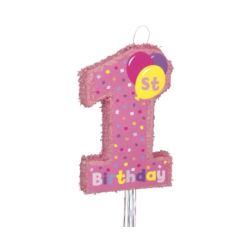 balony, balony na hel, dekoracje balonowe, balony Łódź, balony z nadrukiem, Piniata 1st Birthday Girl, 56 x 36 cm