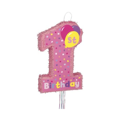 Image of Piniata 1st Birthday Girl, 56 x 36 cm