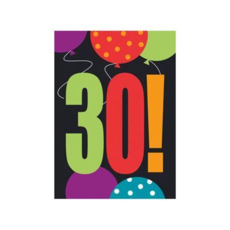 Zaproszenia urodzinowe 30-tka