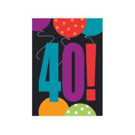 Zaproszenie urodzinowe 40-tka
