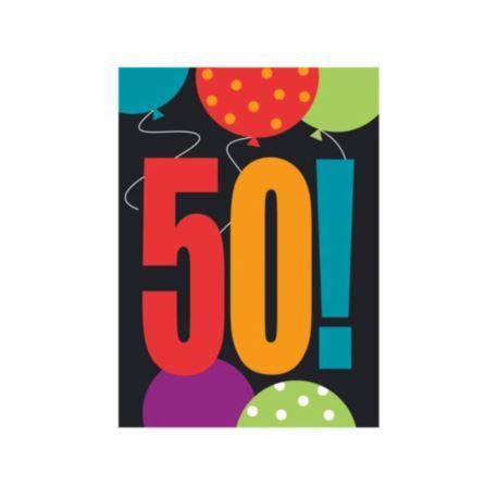 Zaproszenie urodzinowe 50-tka