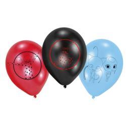 """Balony lateksowe """"Miraculous"""" 6 szt. 22,8 cm"""