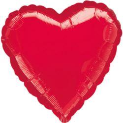 Balon foliowy Serce Jumbo czerwone 1szt.