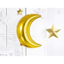 Balon foliowy Księżyc, 60cm, złoty