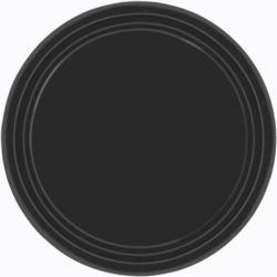Talerze papierowe, czarny, 8 szt. 17,7 cm