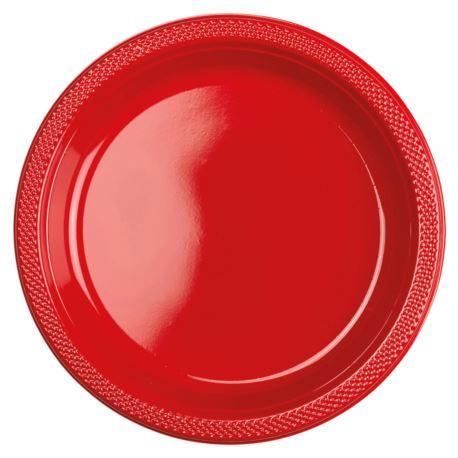 Talerze czerwony 22,8 cm  10szt.