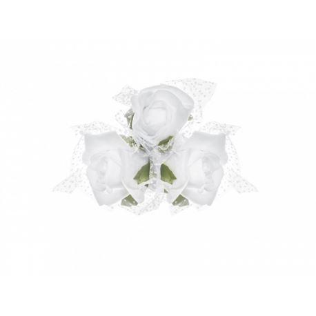Bukieciki na przyssawkach w kolorze białym 4szt.