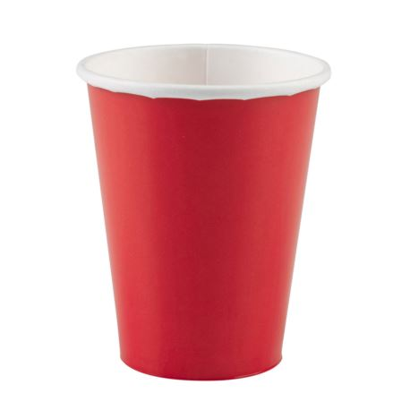 Kubki czerwone papierowe 266 ml 20szt.