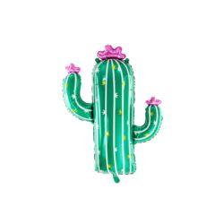 Balon foliowy Kaktus, 60x82cm, mix