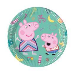 Talerzyki papierowe Peppa Pig. 20 cm ,8 szt.