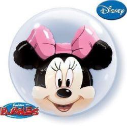 "Balon, foliowy 24"" QL Bubble Pod. ""Minnie Mouse"""