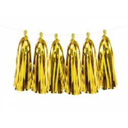 balony, balony na hel, dekoracje balonowe, balony Łódź, balony z nadrukiem, Girlanda frędzle, złoty