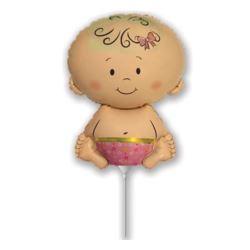 """balony, balony na hel, dekoracje balonowe, balony Łódź, balony z nadrukiem, Balon foliowy 14"""" FX - """"Bobas Dziewczynka"""""""