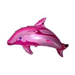 """Balon foliowy 14"""" FX - """"Delfin - kleks"""" (różowy)"""