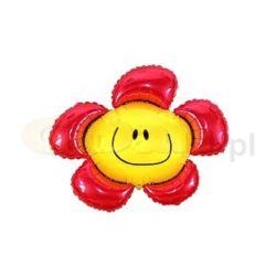 """balony, balony na hel, dekoracje balonowe, balony Łódź, balony z nadrukiem, Balon foliowy 14"""" FX - """"Kwiatek"""" (czerwony)"""