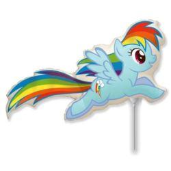 """balony, balony na hel, dekoracje balonowe, balony Łódź, balony z nadrukiem, Balon foliowy 14"""" FX - """"Kucyki: Rainbow Dash"""""""