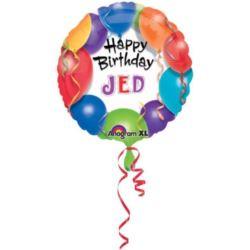Balon, foliowy Happy Birthday - baloniki