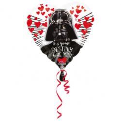 balony, balony na hel, dekoracje balonowe, balony Łódź, balony z nadrukiem, Balon foliowy STAR WARS Gwiezdne Wojny SERCE DARTH