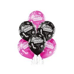 """balony, balony na hel, dekoracje balonowe, balony Łódź, balony z nadrukiem, Balony 12"""" Ladies Night 6 szt."""
