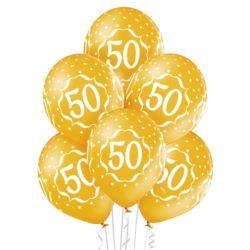 """Balony 12"""" 50th Anniversary 6szt."""