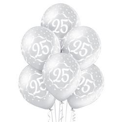 """Balony 12"""" 25th Anniversary 6szt."""
