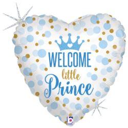"balony, balony na hel, dekoracje balonowe, balony Łódź, balony z nadrukiem, Balon Grabo 18"" Glitter-Baby-Prince"