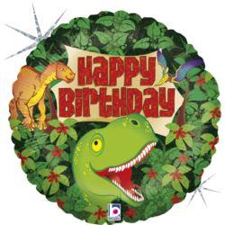 """balony, balony na hel, dekoracje balonowe, balony Łódź, balony z nadrukiem, Balon 18"""" Dinozaury"""