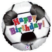 "balony, balony na hel, dekoracje balonowe, balony Łódź, balony z nadrukiem, Balon Grabo 18"" Soccer Ball BDay"
