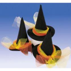 Kapelusik czarownicy z kokardą