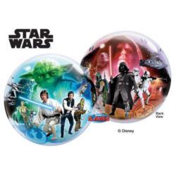 """balony, balony na hel, dekoracje balonowe, balony Łódź, balony z nadrukiem, Balon, foliowy 22"""" QL Bubble Poj.""""Star Wars"""""""
