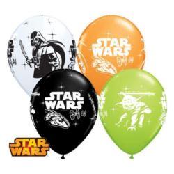 "Balon QL 12"", ""Darth Vader & Yoda"", pastel mix"