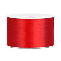 Tasiemka satynowa, czerwony, 38mm/25m