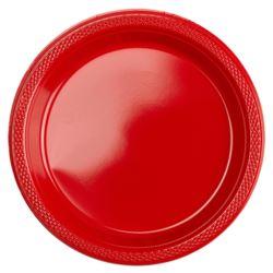 Talerze 17,7 cm czerwony 33 x 33 cm 20szt.
