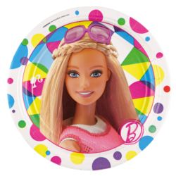 Talerze 8 szt. Barbie Sparkle 17.7 cm
