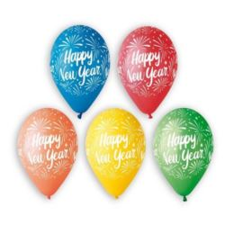 "Balony Premium ""Happy New Year"" 6 szt."