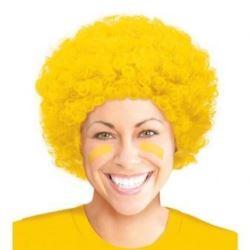 """balony, balony na hel, dekoracje balonowe, balony Łódź, balony z nadrukiem, Peruka """"Afro"""" żółta"""