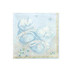 Serwetki Buciki, niebieski, 33 x 33cm