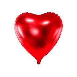 Balon foliowy Serce, 72x73cm, czerwony