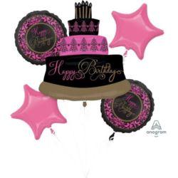 "Bukiet balonów ""Tort Happy Birthday"" 5 szt."