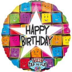 """Balon, foliowy grający """"Happr Birthday"""""""