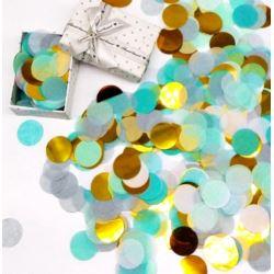 Konfetti do balonów mix blu - gold , 50 g