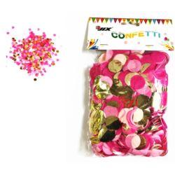 Konfetti 50 g mix pink/gold 1 szt.